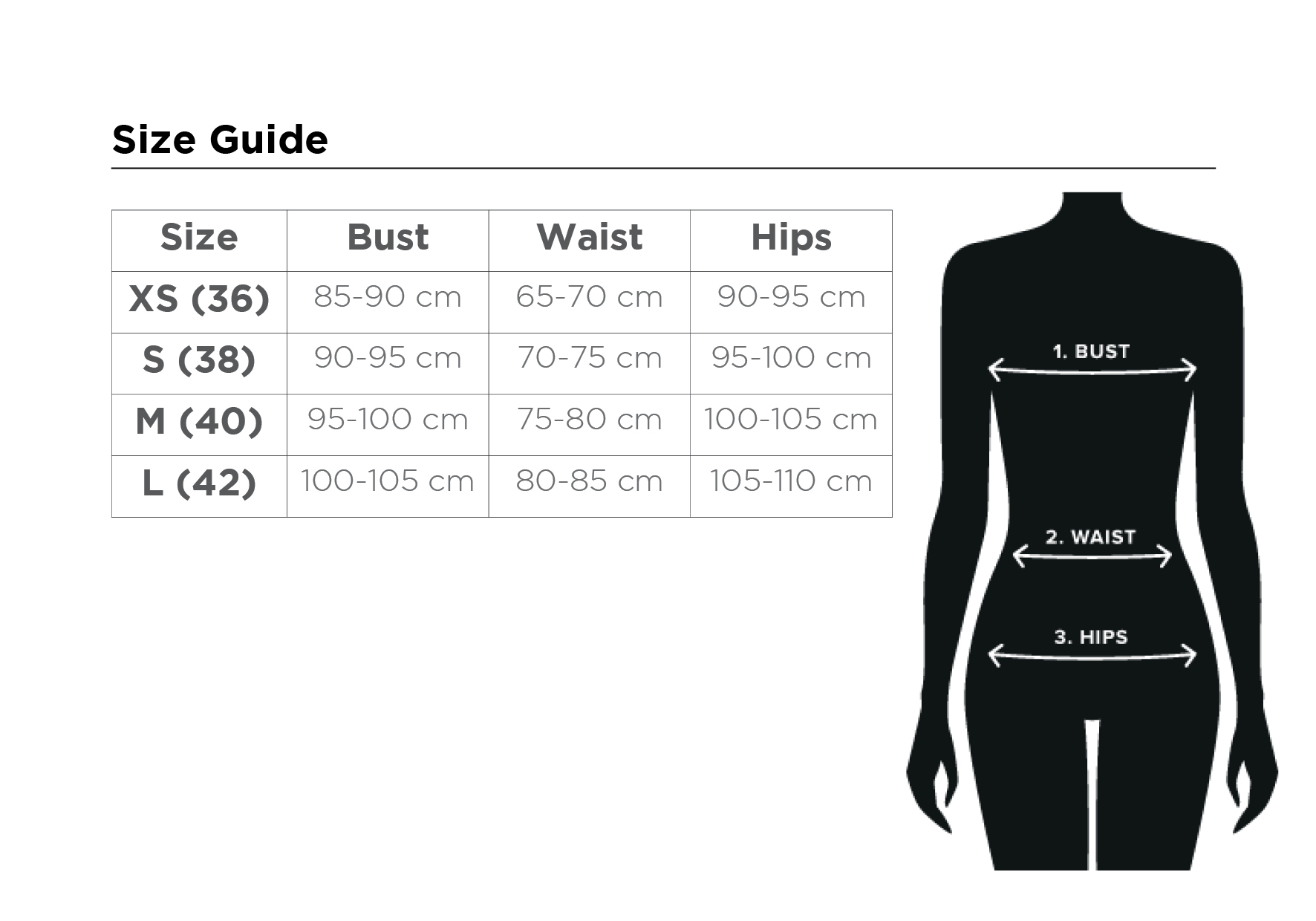 size guide casual