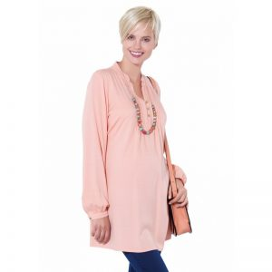 2592 – Maternity Tunic Powder Color Main