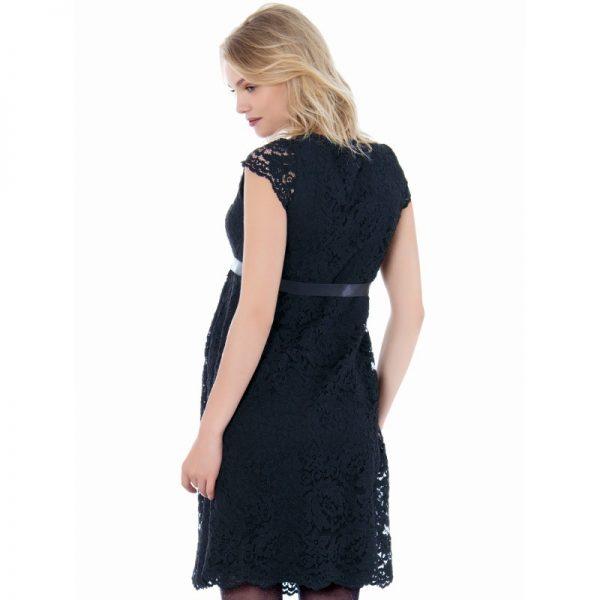 2809 - Lace Maternity Evening Dress Black Back