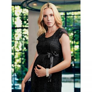 2809 – Lace Maternity Evening Dress Black green