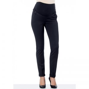 2949 Double Cuff Maternity Pants Black Main