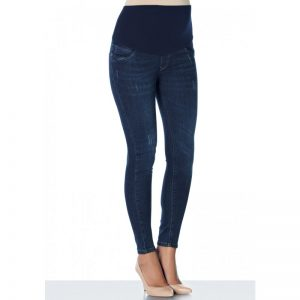 3153 – Jean Maternity Pants Dark Blue with