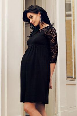 3268-Chiffon-Lace-Dress-Black-Main