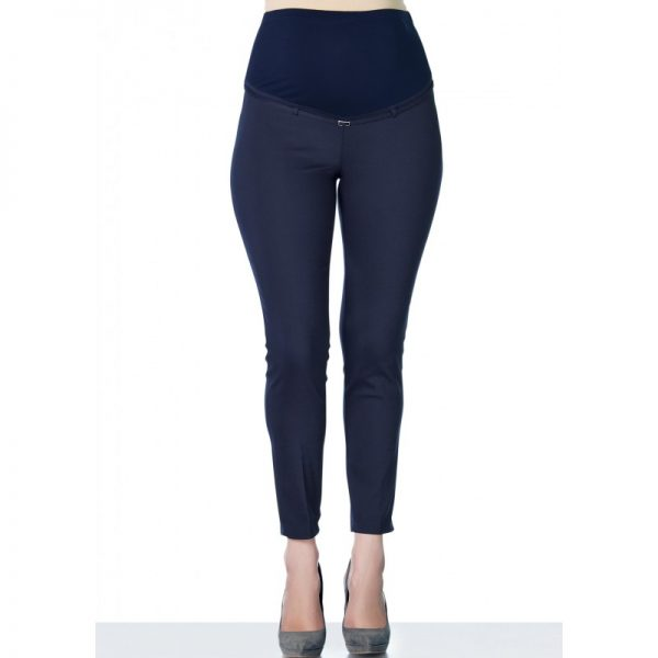 3290 - Ankle Lenght Strech Maternity Pants Navy Front