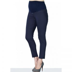 3290 – Ankle Lenght Strech Maternity Pants Navy Main