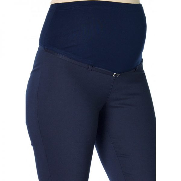 3290 - Ankle Lenght Strech Maternity Pants Navy Zoom