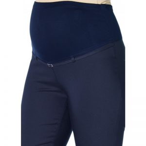 3290 – Ankle Lenght Strech Maternity Pants Navy Zoomr