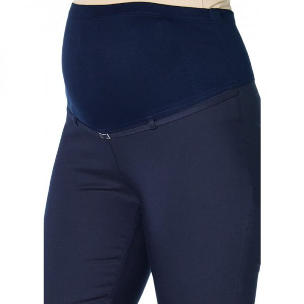 3290 - Ankle Lenght Strech Maternity Pants Navy Zoomr