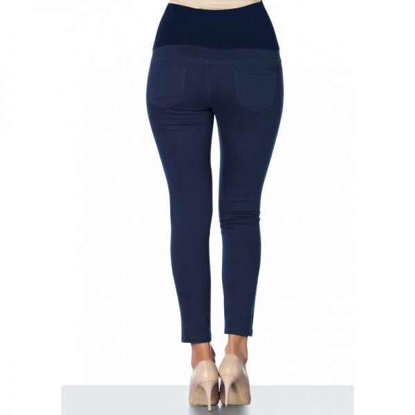 3300 - Ankle Lenght Slim-Fit Maternity Pants Navy Back
