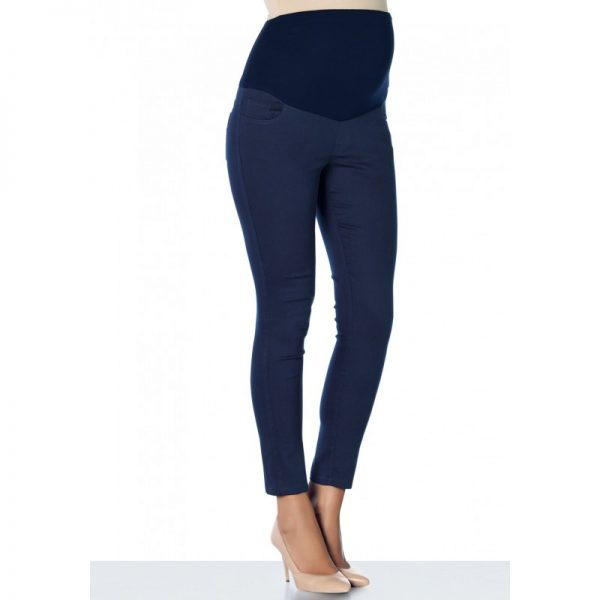 3300 - Ankle Lenght Slim-Fit Maternity Pants Navy Main