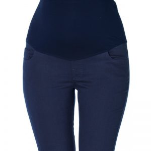 3300 – Ankle Lenght Slim-Fit Maternity Pants Navy Zoom