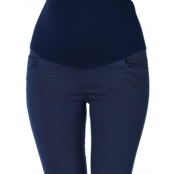 3300 - Ankle Lenght Slim-Fit Maternity Pants Navy Zoom
