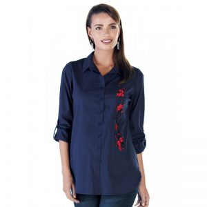 3515 – Maternity Shirt Dark Blue Main