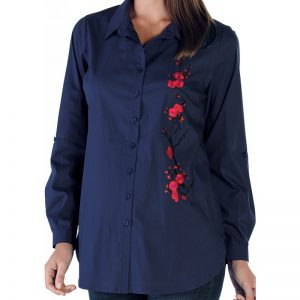 3515 – Maternity Shirt Dark Blue zoom