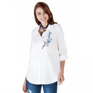 3515 – Maternity Shirt White Main