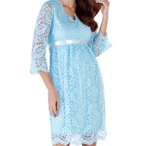 3545 – Maternity Dress Blue Zoom