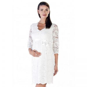 3545 – Maternity Dress White Main