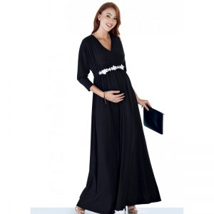 3558 – Maternity Dress Black Main