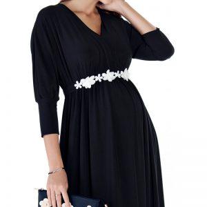 3558 – Maternity Dress Black Zoom