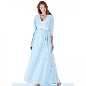 3558 – Maternity Dress Blue Main