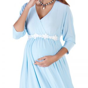 3558 – Maternity Dress Blue zoom