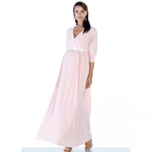 3558 – Maternity Dress Cream Main