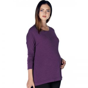 E17-3327 – Maternity Blouse Purple Main