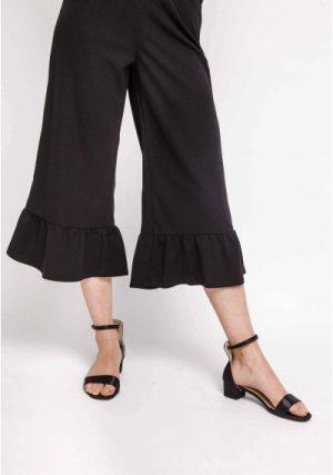 SP18HAN53 – Black Culotte Trousers Main