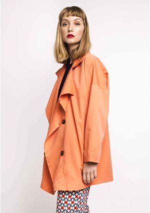 SP18HAN61 – Orange Double Button Gabardine side