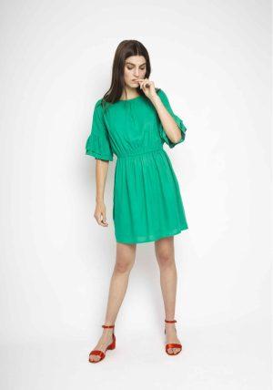 SP18SAM49 – Frilly Green Dress Main