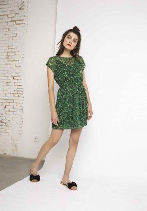 SS18SHE30 – Mambo Green Printed Dress All
