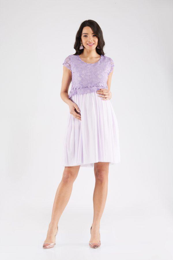 8bf5037c8b Sophie Lilac Maternity Dress - CasaMooda.com
