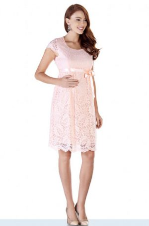 2809-Bfaby-Shower-Lace-Maternity-Evening-Dress-Pink-all-side